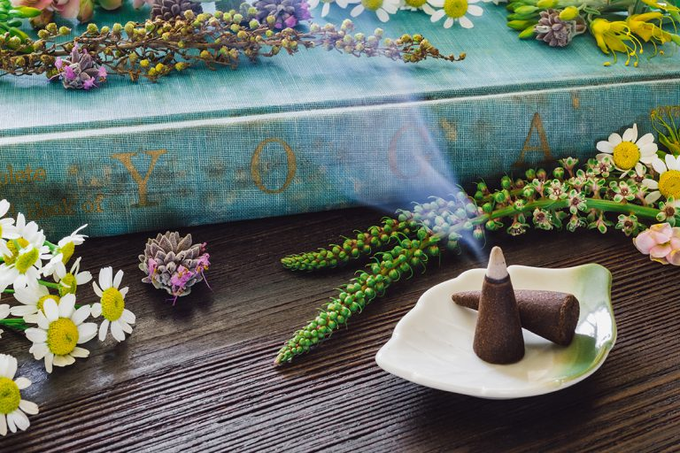 Yoga Book with Incense